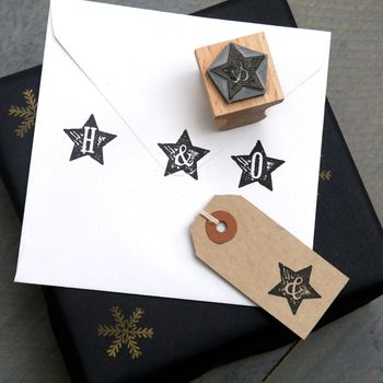 Star Letter Rubber Stamp