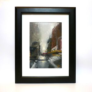 Boston Landscape Original Oil Painting