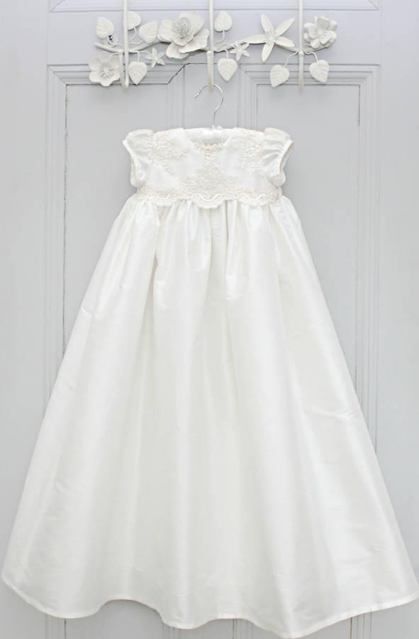 fbd76d4b657 girls christening gown 'chloe' by adore baby | notonthehighstreet.com