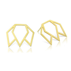 Laksmi Lotus Stud Earrings