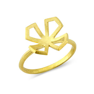 Star Lotus Domed Ring