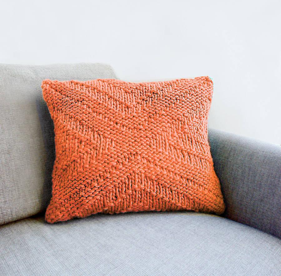 Wondrous Criss Cross Pattern Cushion Cover Knitting Kit By Stitch Story Hairstyle Inspiration Daily Dogsangcom