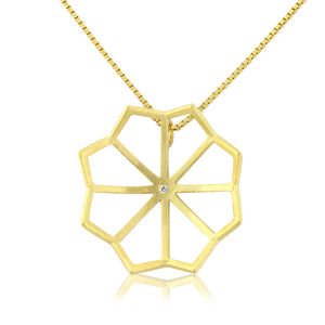 Small Lotus Necklace - necklaces & pendants