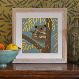 'Koala' Art Print - children's pictures & paintings