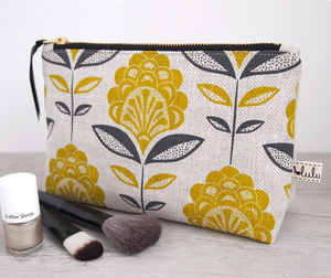 Peacock Flower Print Make Up Bag - 21st birthday gifts