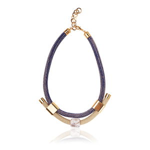 Navy Style Statement Necklace - necklaces & pendants