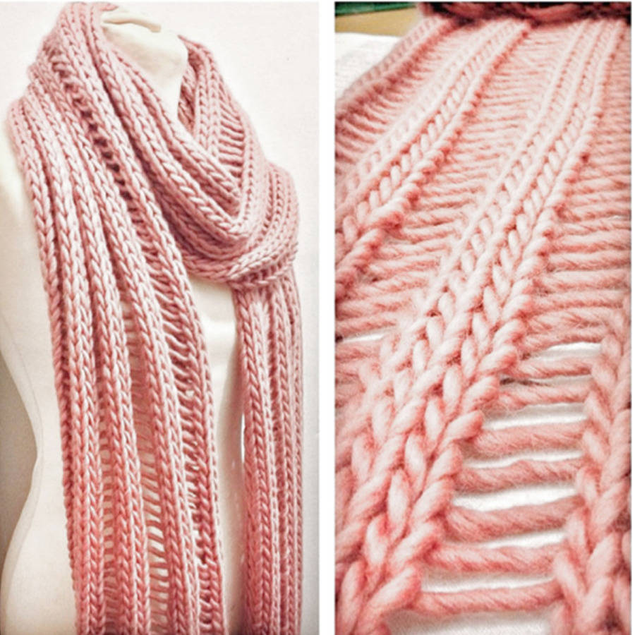 Drop Stitch Scarf Knit Pattern : simple drop stitch scarf knitting kit by stitch & story notonthehighstr...