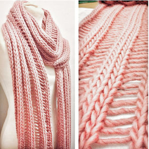 Simple Drop Stitch Scarf Knitting Kit - summer sale
