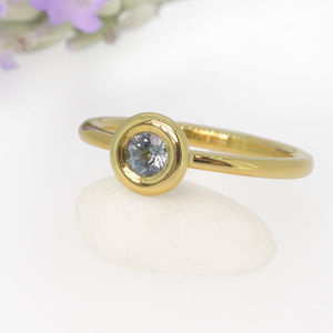 Sapphire Aura Ring In 18ct Gold Or Platinum - engagement rings
