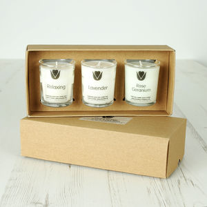 Natural Wax Votive Selection Box - candles & home fragrance