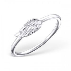 Angel Wing Ring In Sterling Silver - summer sale