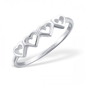 Love Heart Ring In Sterling Silver - rings
