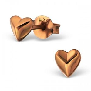 Valentines Day Heart Earrings In Rose Gold Vermeil