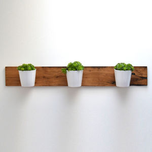 Reclaimed French Oak Horizontal Planter - pots & planters