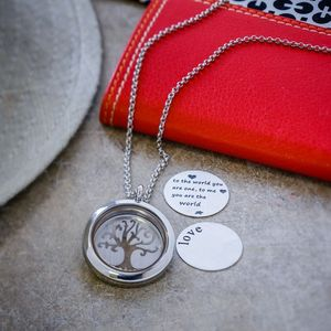Customisable Floating Locket Necklace