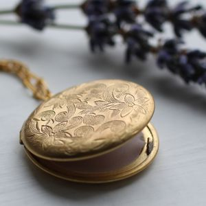 Botanical Perfume Locket - necklaces & pendants