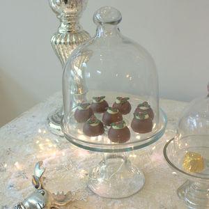 Medium Glass Cloche - drink & barware