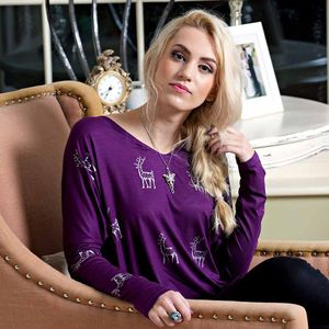 British Made Stag Top In Purple