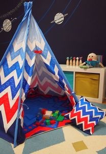 Child Teepee And Mat Chevron Design - toys & games