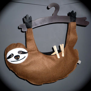 Sloth Peg Bag