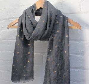 Gold Dotted Scarf