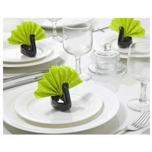 Napkin Swan Napkin Holders, Set Of Six