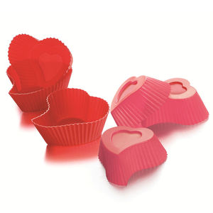 Heart Muffin Cases, Set Of Six