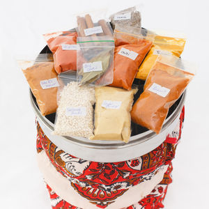 Moroccan Spices With Tin And Silk Cover - gifts for him