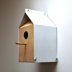 Milk Carton Inspired Nest Box - bird houses
