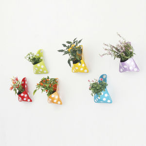 Flora Planter And Storage Pocket, Polka Dot Single