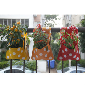 Flora Planter And Storage Pocket, Polka Dot Double - pots & planters