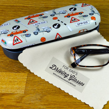 Driving Glasses Case With Personalised Cloth