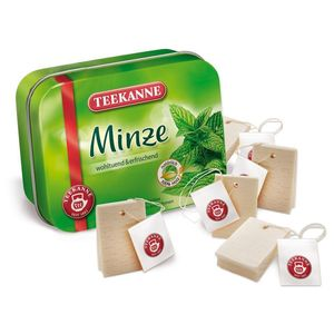 Tin Of Wooden Mint Tea Bags