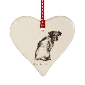 Hanging Love Hearts With Classic Doggy Poses