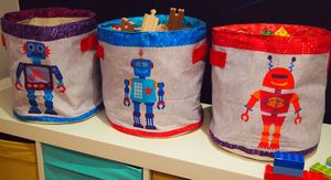 Robot Storage Buckets - children's storage