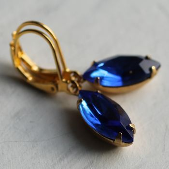 Royal Blue Vintage Earrings