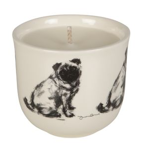 Pug Design Scented Candle - candles & candlesticks