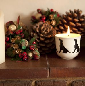 Scented Candles With Silhouette Dog Breed Designs