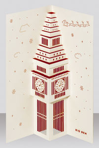 Big Ben Pop Up Christmas Card - cards & wrap
