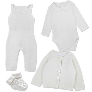 Baby Boy Knitted Christening Outfit - clothing
