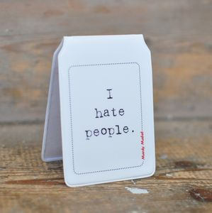 'I Hate People' Travel Card Holder - passport & travel card holders