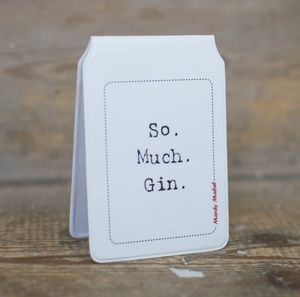 'So. Much. Gin.' Travel Card Holder - passport & travel card holders