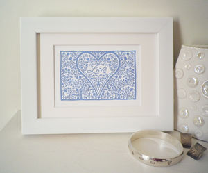 Miniature Love Heart Print