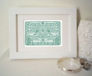 Miniature Heart Of The Country Print - posters & prints
