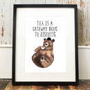 'Biscuit Bear' Print