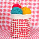 Spot Print Canvas Storage Pot