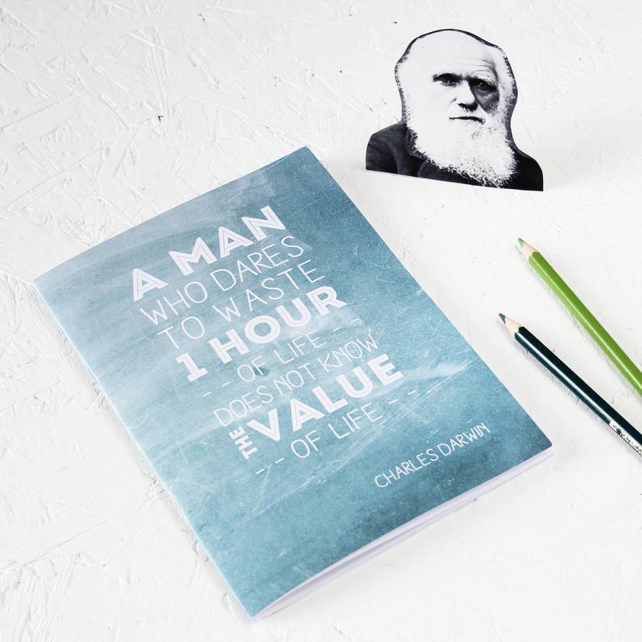 Darwin Quotes: Famous Scientist Darwin Quote Teal Notebook By Newton And