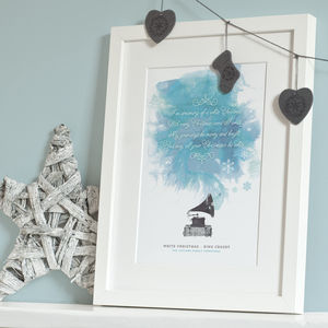 Christmas Song Lyrics Print