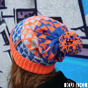 Block Tumble Bobble Hat