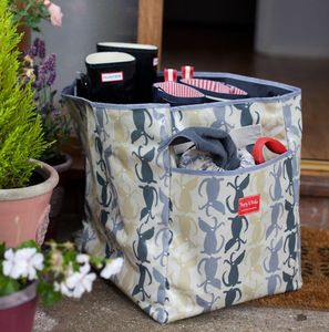 Oilcloth Welly Boot Bag - storage & organisers